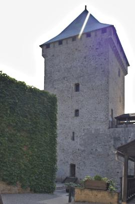 Château de Mauvezin - le donjon construit par Gaston Febus