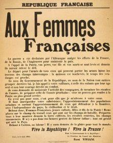 Déclaration de Viviani aux femmes françaises