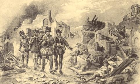 La destruction de Lourdes par le parti huguenot