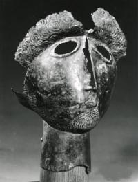Masque du dieu Ergé de Montserié (65), un des dieux pyrénéens