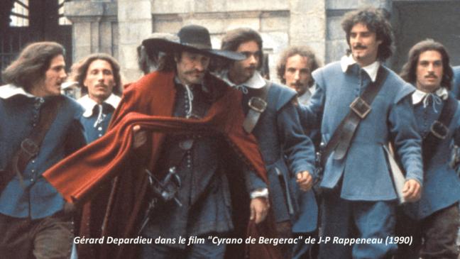 "Gérard Depardieu dans le filme ""Cyrano de Bergerac de J-P Rappeneau (1990)"