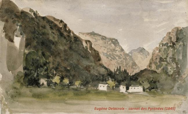 Delacroix Poètes et Pyrénées