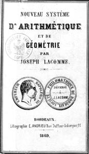 Nouveau Système d'arithmétique de Joseph Lacomme