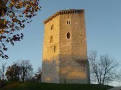 Le château d'Orthez, lieu de résidence de Febus en Béarn