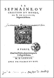Bartas - La Septmaine ou Création du Monde