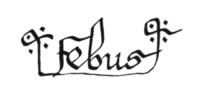 La signature de Febus du 16 avril 1360