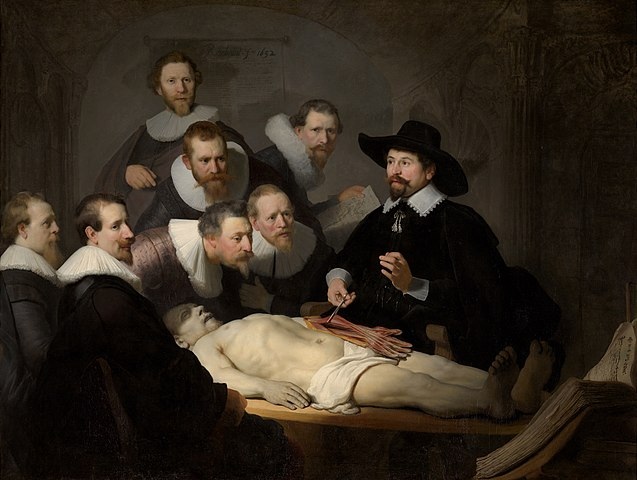 Epidémie - Rembrandt, la leçon d'anatomie du Dr. Nicolaes Tulp (ca. 1632)