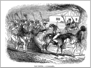 Charivari - Asouade dans les Landes - L'Illustration 1847