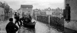 Inondation de la Garonne à Langon en 1952