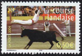 saut au-dessus d'une vache landaise
