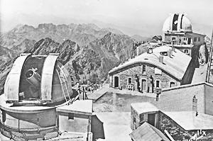 Le T60 vers 1950 lreplus gros télescope du Pic du Midi