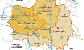 carte œnologique de l'armagnac