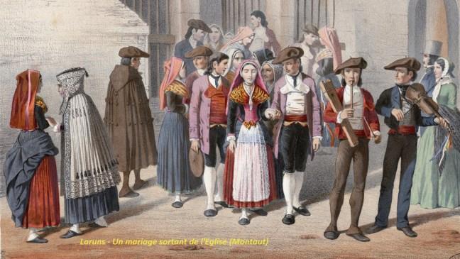 Laruns - Un mariage sortant de l'Eglise (Montaut)