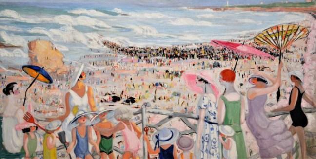 La grande plage de Biarritz (1923) par Jacqueline MARVAL