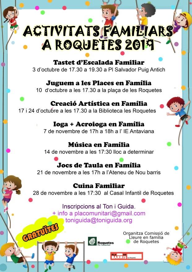 activitats familiars Roquetes