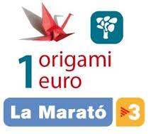 Fem grues de paper per la Marató de TV3