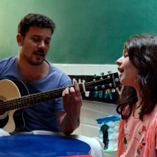 Atividade do Integral, com Carlito e Ana Clara, aluna do Ensino Fundamental
