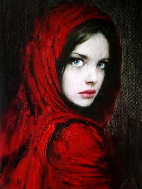 Taras Loboda: Dama de vermelho, 1961.