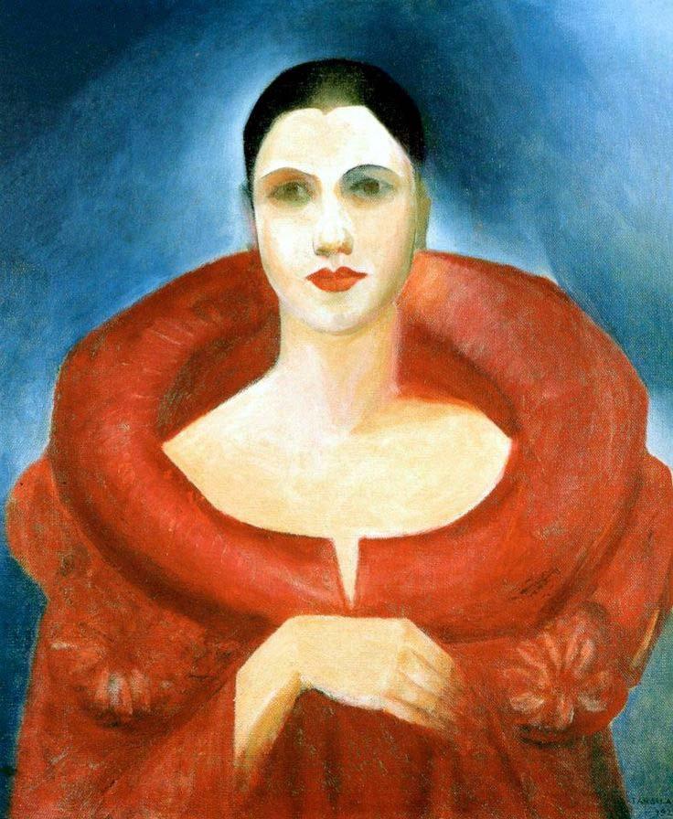 Tarsila do Amaral: Manto Vermelho, 1923.