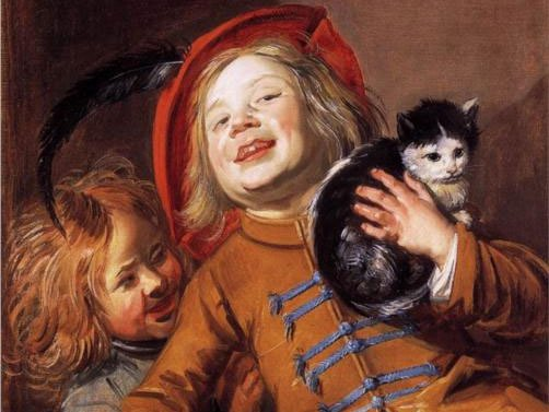 Judith Leyster: Criança sorridente com gato, 1629.