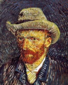 Vincent van Gogh: Autorretrato com Chapéu de Feltro, 1888.