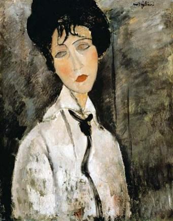Amedeo Modigliani: Mulher com gravata preta, 1917.
