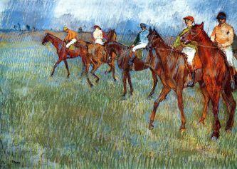 Edgar Degas: Cavalos de Corridas, 1879.