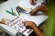 Detalhe de 'alfabeto' desenvolvido para a oficina de alfabetização