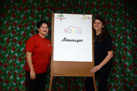 Professoras Carmynha Santos e Liz Volino