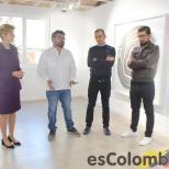 Carolina Barco, Embajadora de Colombia en España, acompañando la exposición de los artistas Miler Lagos, Manuel Calderón y Edwin Monsalve, en la Casa Cultural de la sede de Embajada de Colombia, en Madrid.