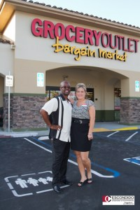 Escondido Chamber of Commerce with Grocery Outlet owners Frank and Marcey Williams