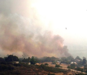 San Dieguito Valley under fire.