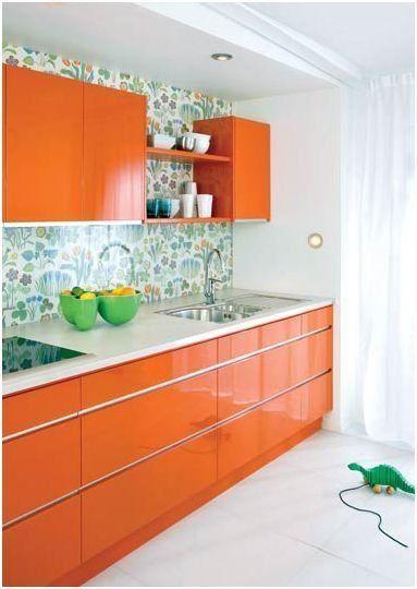 Orange kitchen