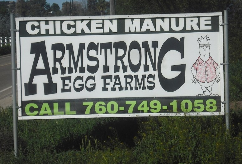 Eggs and chicken manure, too?