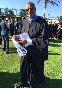 VCHS history teacher Howard Fraser has attended all 15 VCHS Commencements.