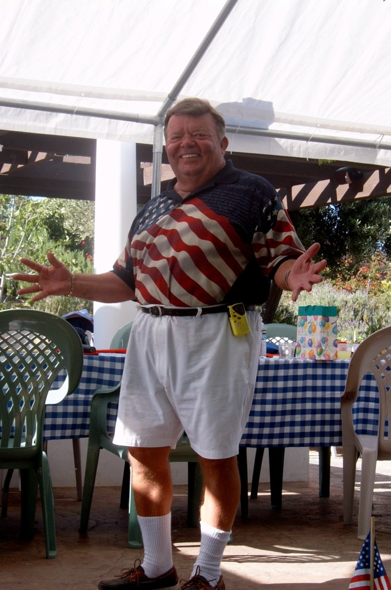Clyde Childress at the annual July 4 party.