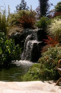 One of several waterfalls at Pikake Gardens.