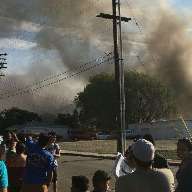 Social media photo from the fire scene.
