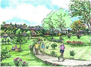 Ah, the idylls of proposed Lilac Hills Ranch life, according to an Accretive artist's rendition