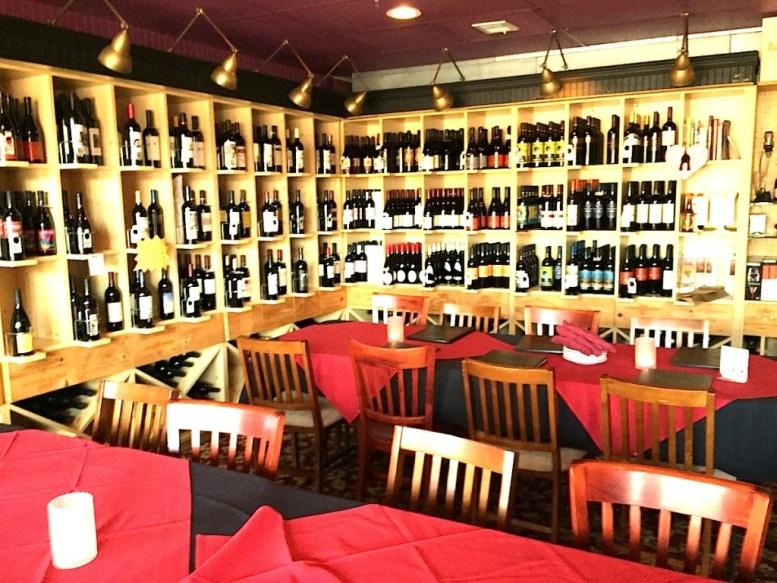 New wine room at Vinz Wine Bar on Grand.