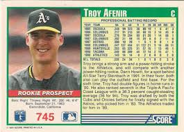 Troy Afenir of the oakland A's and Palomar College.