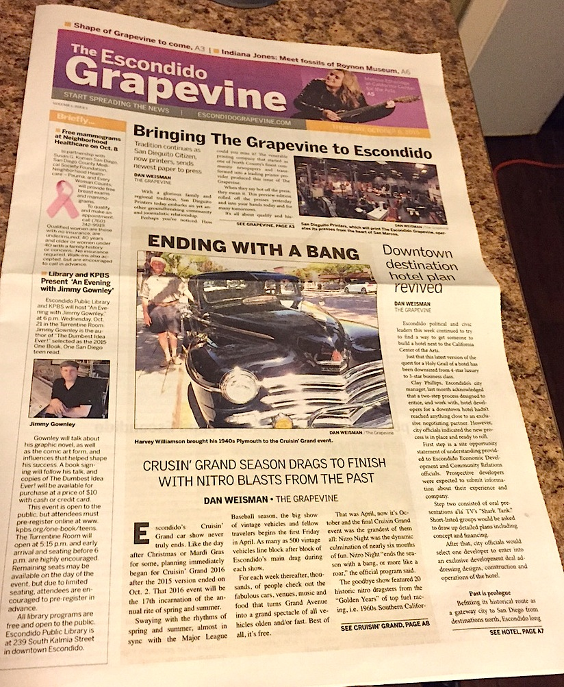 First demo issue of The Grapevine.
