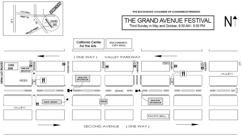 Street Faire layout