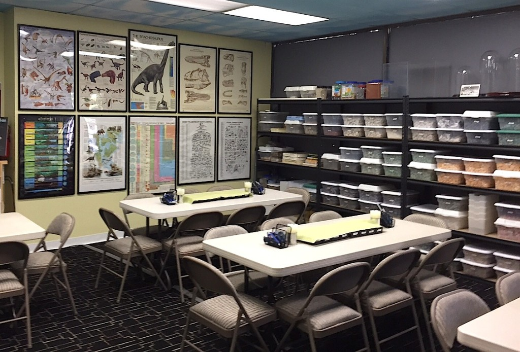 Earth sciences and education room.