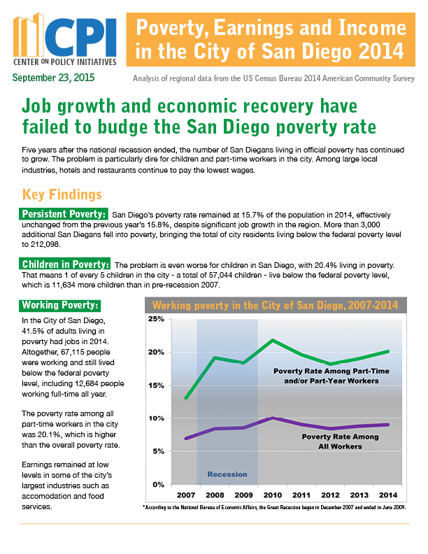 CPI analyzes U.S. Census Bureau data from 2013 to determine poverty levels in Escondido..