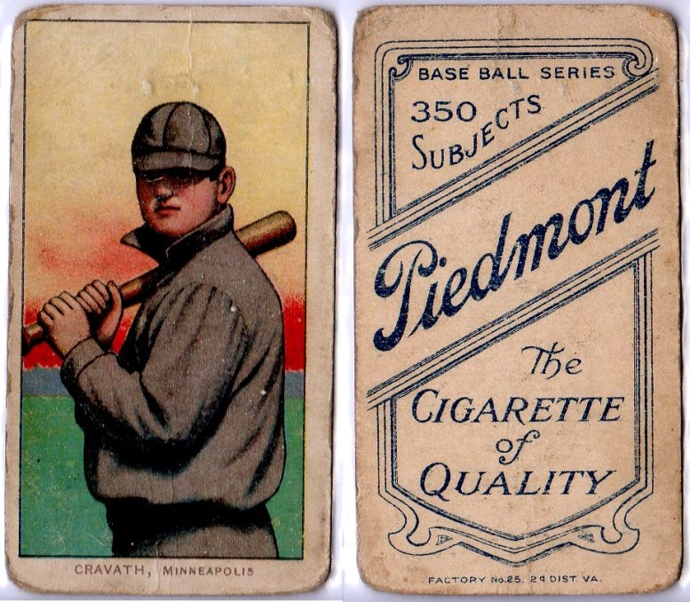 Gavvy Cravath baseball card.