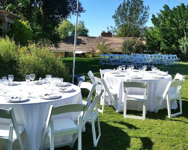 Glimpse of some of the mini mockup wedding venue.