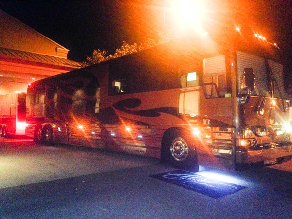 Melissa Etheridge's tour bus at California Center for the Arts, Escondido n Nov. 8