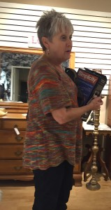 Peggy Williams stops in to browse