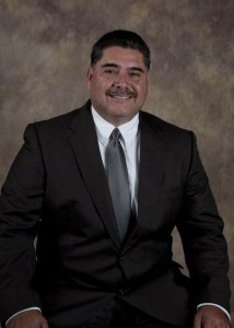 In that corner, but 100 yards away except at school board meetings: Escondido Union School District trustee Jose Fragozoo.